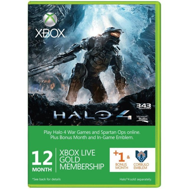 Xbox Live 12-Month + 1 Gold Membership Card (Halo 4 Edition)