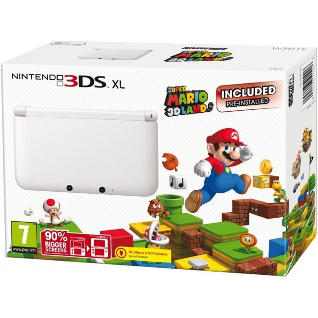 Nintendo 3DS XL (with Super Mario 3D Ice White Edition Pre-Installed)