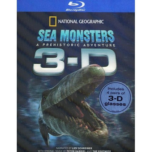 Sea Monsters 3-D [Blu-ray + Anaglyph 3D]