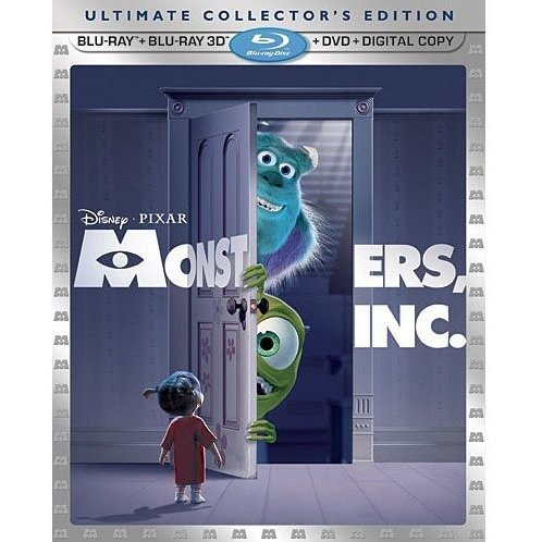 Monsters Inc. 3D Ultimate Collector's Edition [Blu-ray 3D + Blu-ray + DVD + Digital Copy]