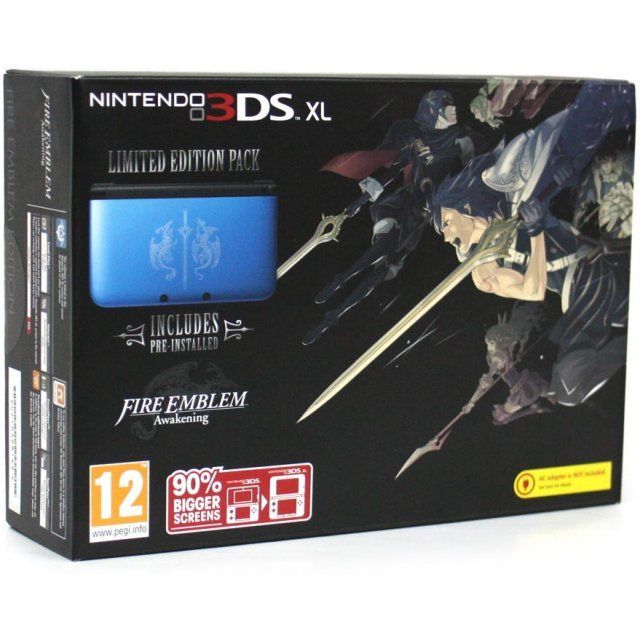 Nintendo 3DS XL (with Fire Emblem: Awakening Blue Pre-Installed Limited Edition Pack)