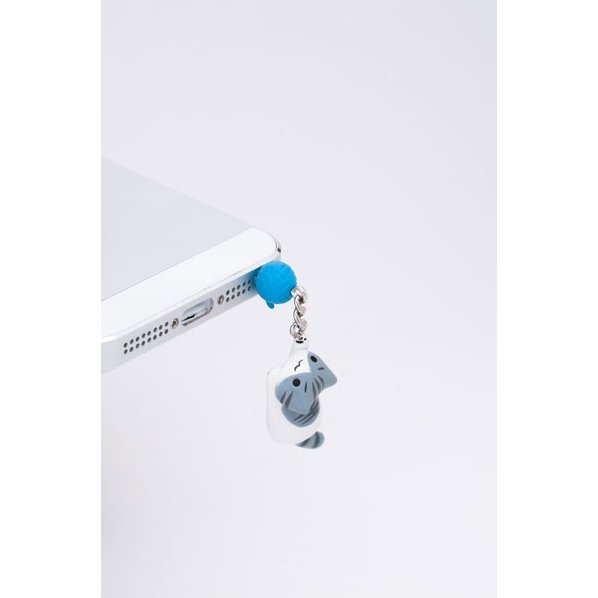Earphone Jack for Iphone5 : Nyan Have Jumped (Ash)