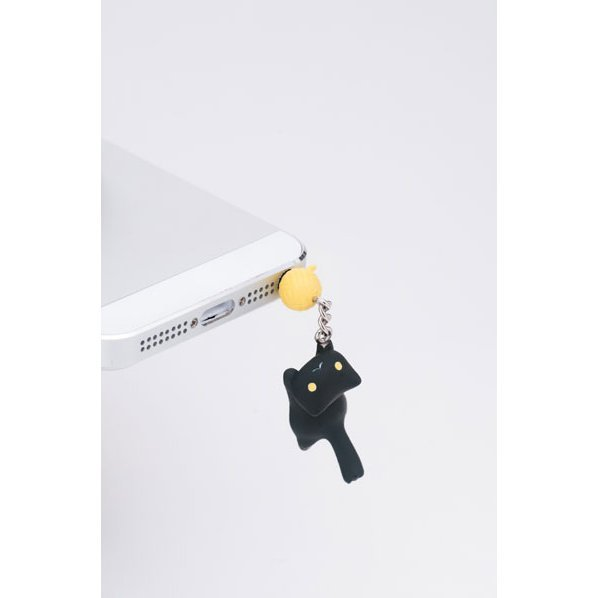 Earphone Jack for Iphone5 : Nyan Have Jumped (Black)