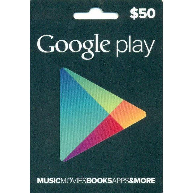Google Play Card (US$50 / for US accounts only)