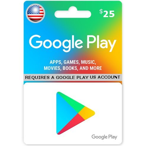 Google Play Card (USD 25 / for US accounts only)