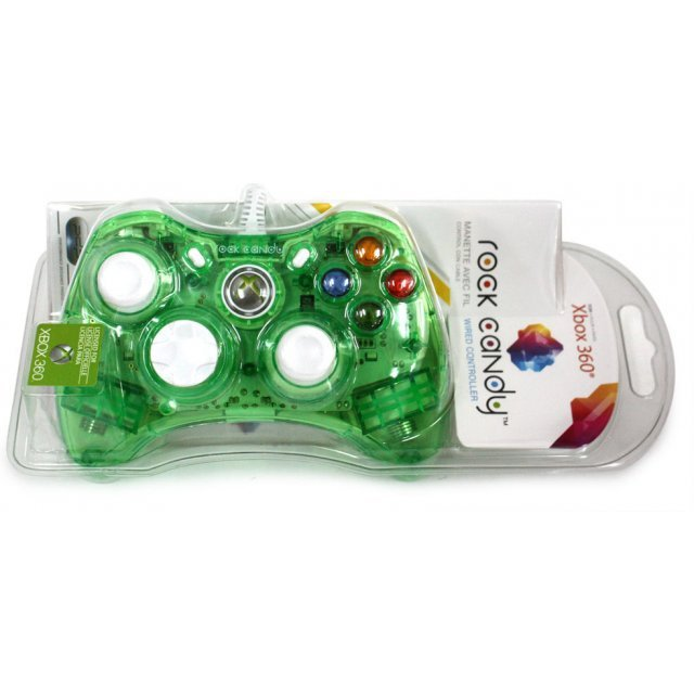 Rock Candy Xbox 360 Wired Controller (Green)