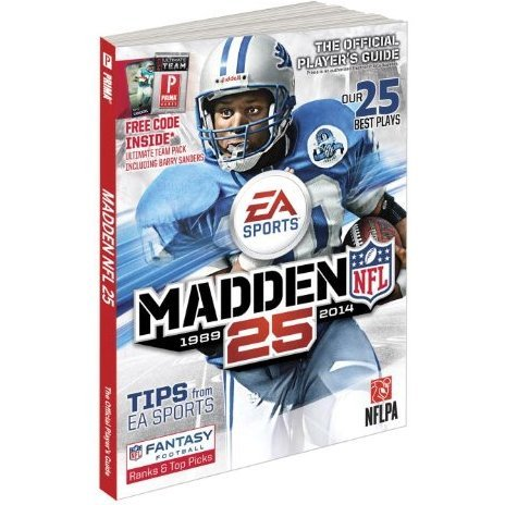 Madden NFL 25 Anniversary Edition Official Game Guide (Hardcover)