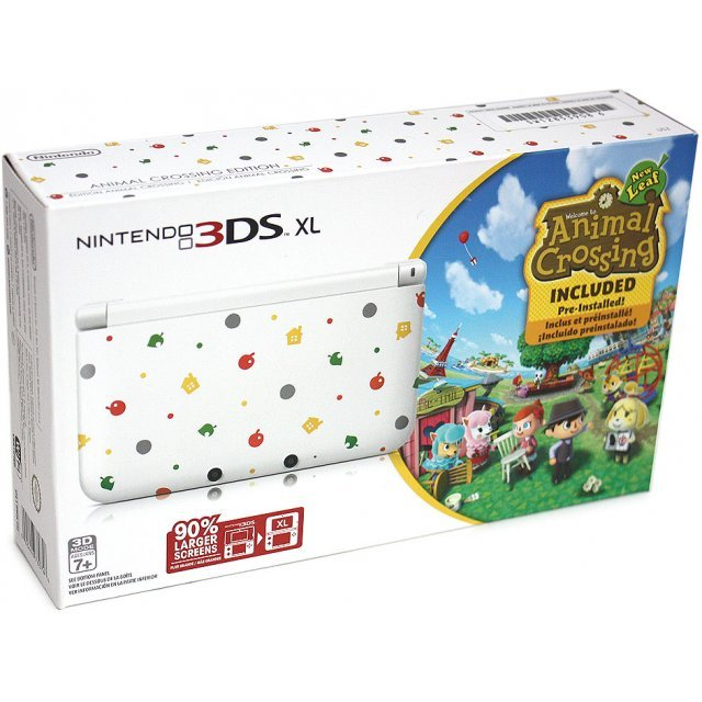 nintendo 3ds xl with animal crossing new leaf pre. Black Bedroom Furniture Sets. Home Design Ideas