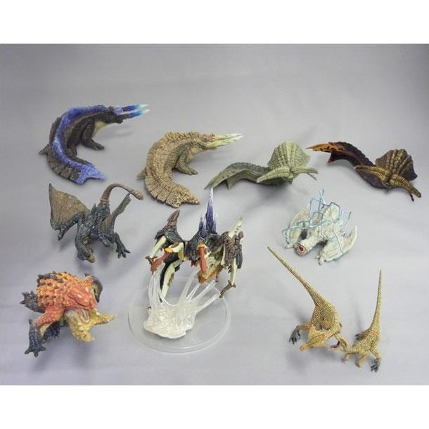 Monster Hunter Figure Builder Pre-Painted  PVC Trading Figure: Standard Model Vol.8 (Set of 9 pieces)