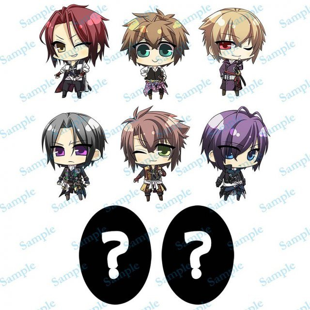 Hakuoki Pre-Painted Trading Figure: Shinsengumi Kitan Western Clothes Version (Set of 8 pieces)
