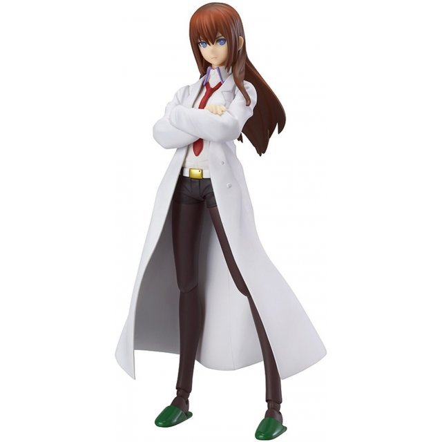 Steins;Gate figma Non Scale Pre-Painted PVC Figure: Makise Kurisu White Coat ver.