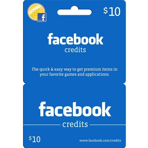 Facebook Card (USD 10 / for US accounts only)