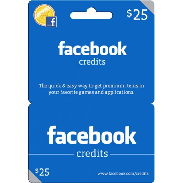 Facebook Card (USD 25 / for US accounts only)
