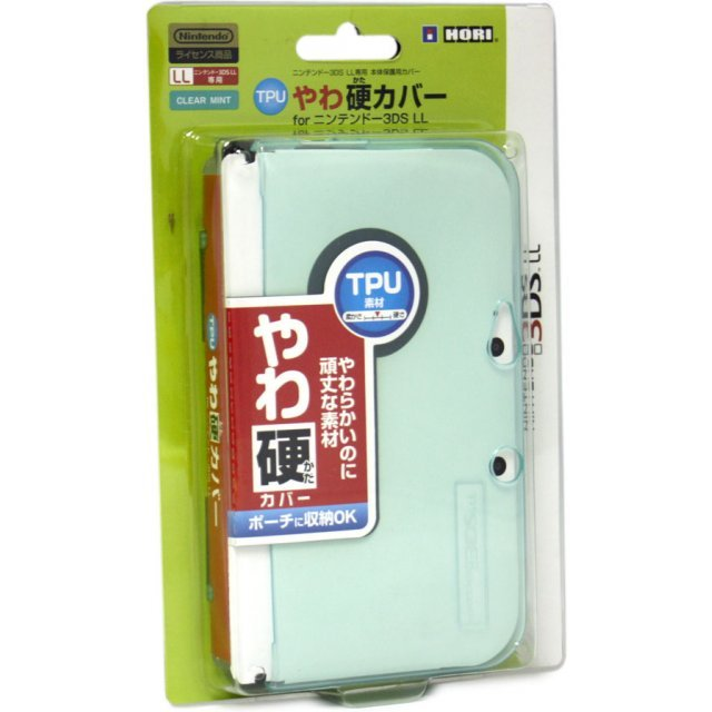 TPU Yawakata Cover for 3DS LL (Clear Mint)