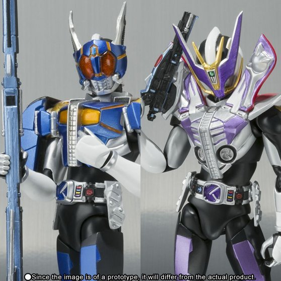 S.H.Figuarts Masked Rider Pre-Painted PVC Figure: Den-O Gun Form & Rod Form (Tamashii Web exclusive)