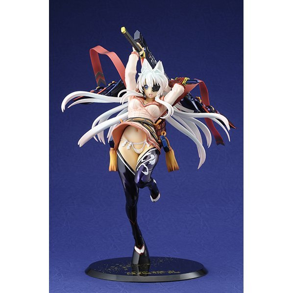 Hyakka Ryoran 1/8 Scale Pre-Painted PVC Figure: Yagyu Jubei Glittering Silver Sword Princess ver. with Desk Mat [Limited Edition]