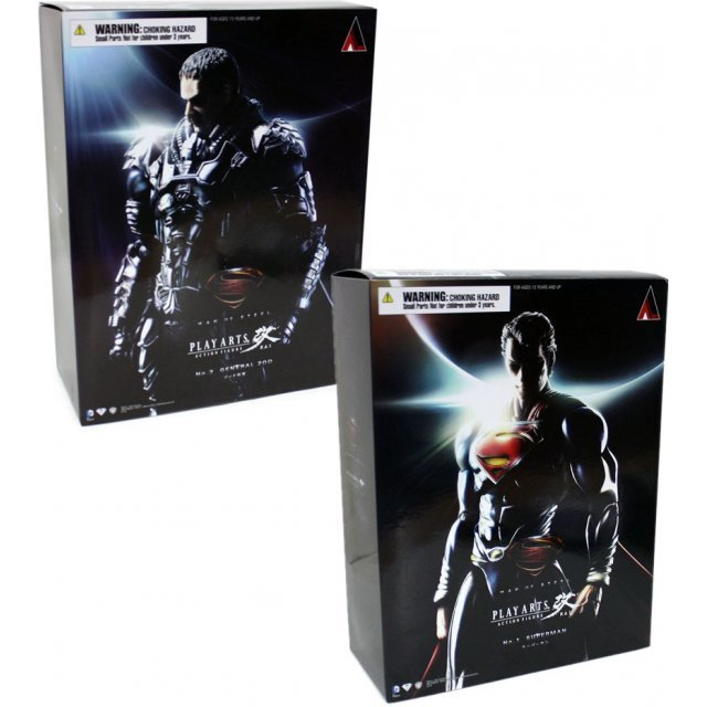 Man of Steel Play Arts Kai: Superman and General Zod (Bundle Set)