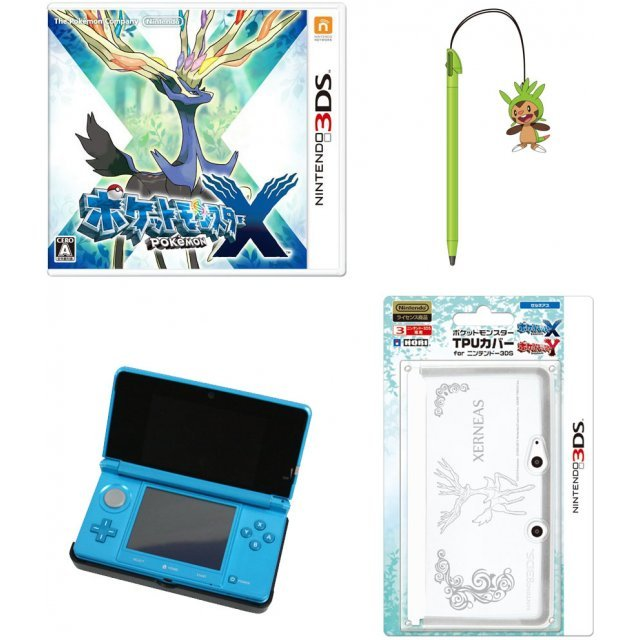 Pokemon X with Nintendo 3DS + Accessories [Play-Asia.com Starter Bundle Set]