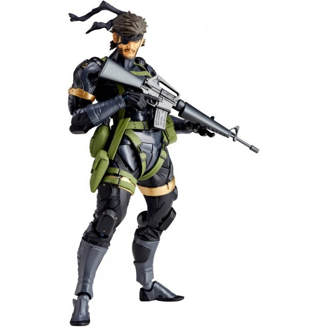 Revoltech Yamaguchi Series No.131 Metal Gear Solid Peace Walker Pre-Painted Action Figure: Snake (Re-run)