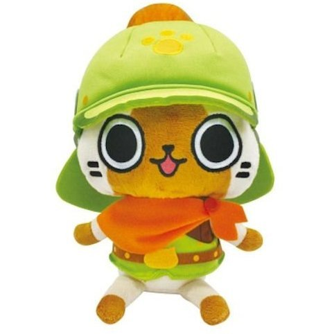 Monster Hunter Otomo Airou Dress Up Plush Doll: Brave Neko