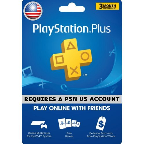 PSN Card 3 Month | PlayStation Plus US
