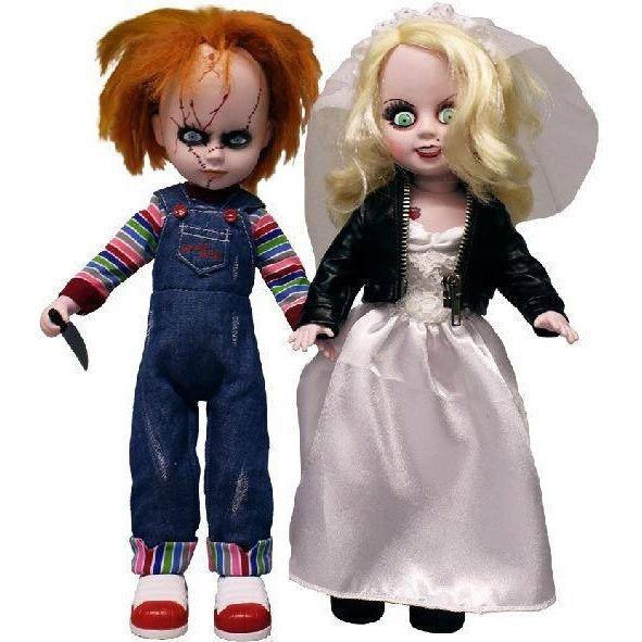 Living Dead Dolls Series Fashion Doll Chucky Tiffany 2 Pack