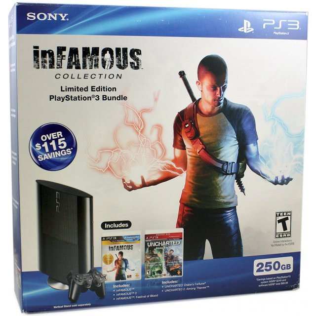 PlayStation3 Slim Console InFamous Collection (250GB Black)