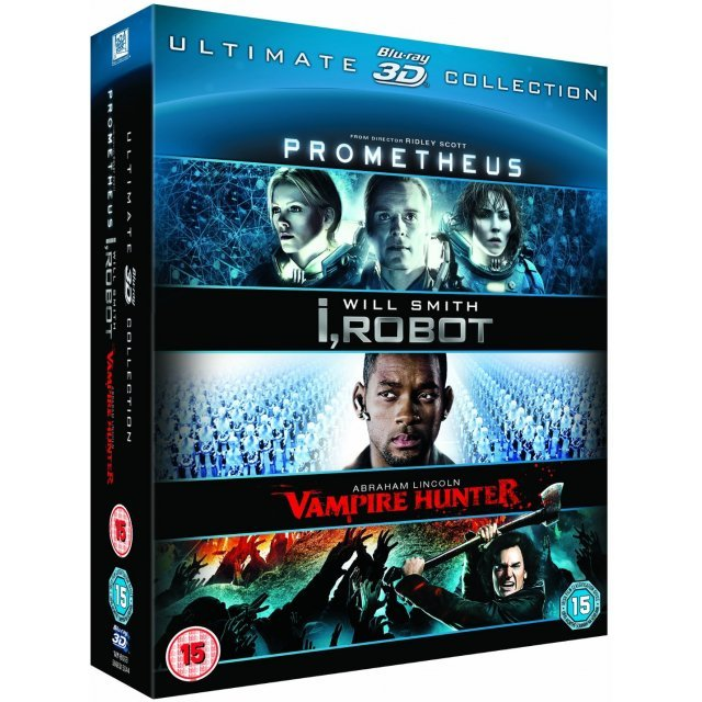 Prometheus / I, Robot / Abraham Lincoln Vampire Hunter - Must See 3D Collection [Blu-ray 3D+Blu-ray]