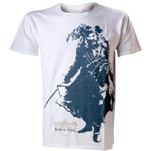 Ubisoft Assassin's Creed IV: Black Flag - Black Beard White Men's Tee (M)