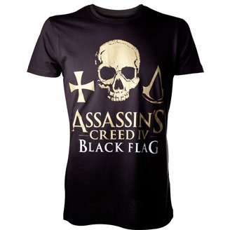 Ubisoft Assassin's Creed IV: Black Flag - Golden Logo Skull Men's Tee (S)