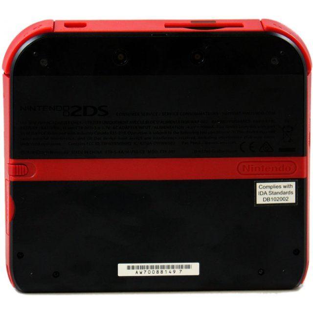 nintendo 2ds red black
