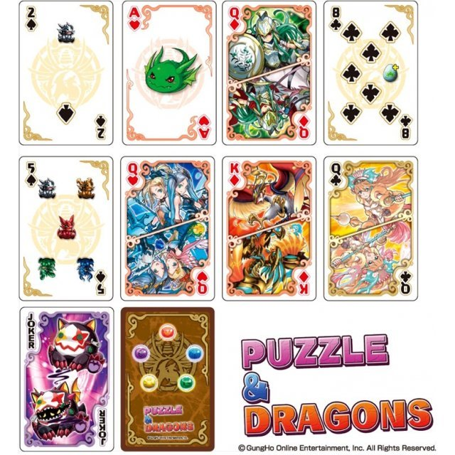 Puzzle & Dragons Playing Cards
