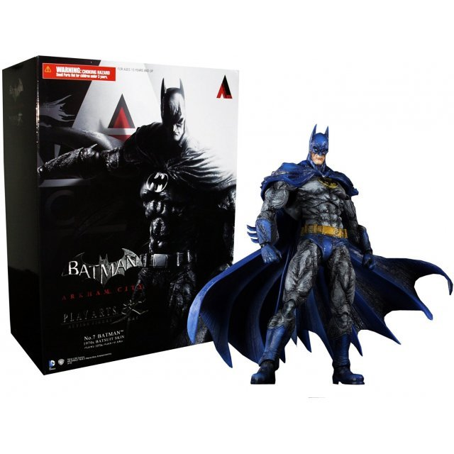 Batman Arkham City Play Arts Kai Non Scale Pre-Painted Figure: Batman 1970s Skin