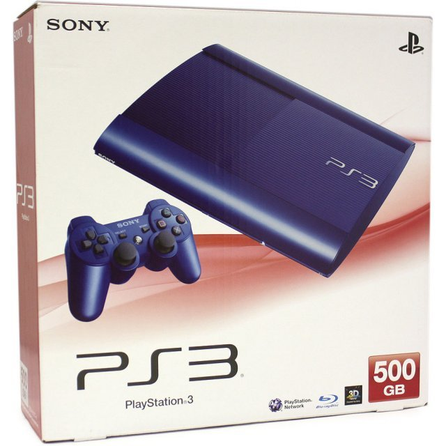 PlayStation3 New Slim Console (500GB Azurite Blue Model) - 220V