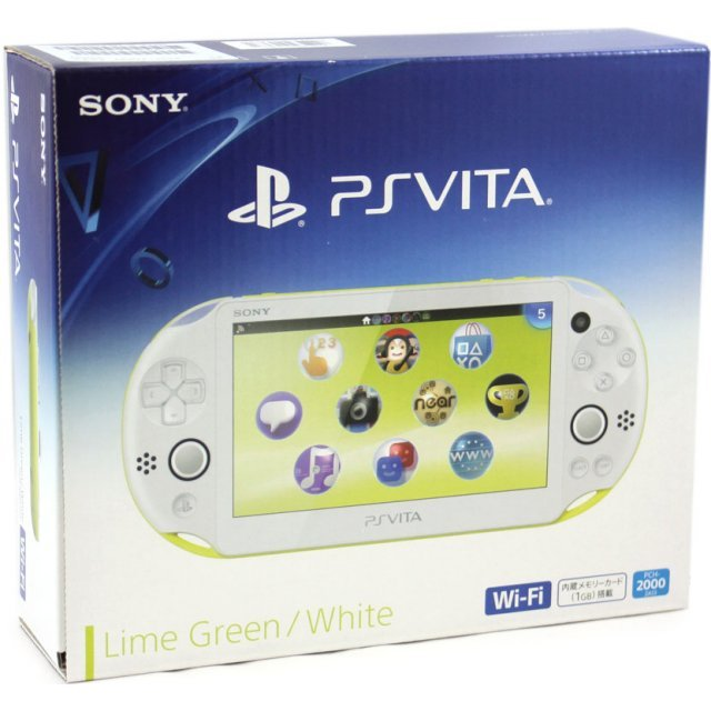PS Vita PlayStation Vita New Slim Model - PCH-2000 (Lime Green White)