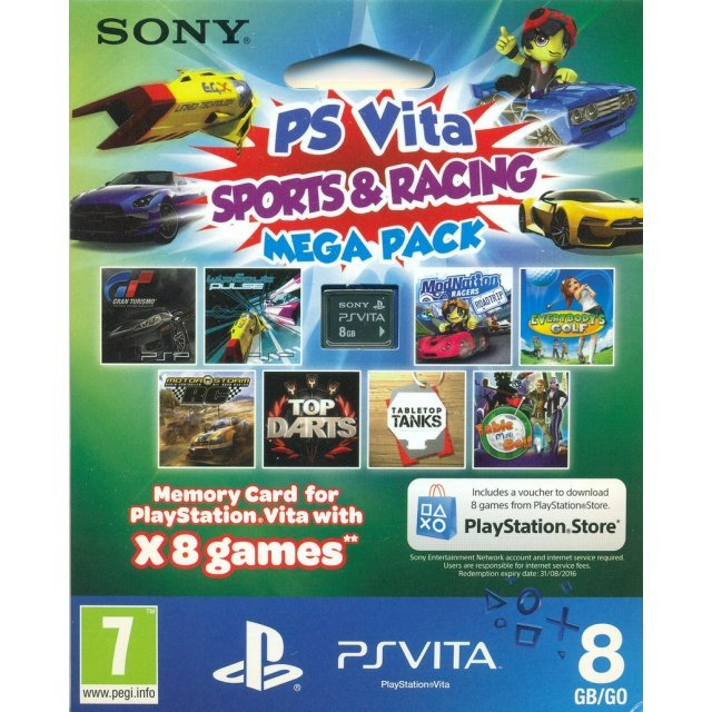 PS Vita Sports & Racing Mega Pack (Includes 8 Games and 8GB Memory Card)