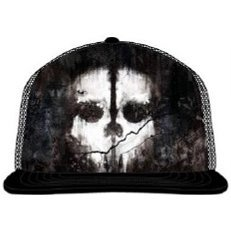 Activision Call of Duty: Ghosts Sublimation Printed Skull Adjustable Cap