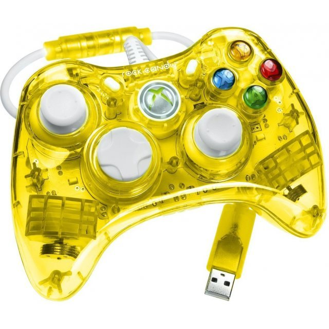 Rock Candy Xbox 360 Wired Controller (Yellow)
