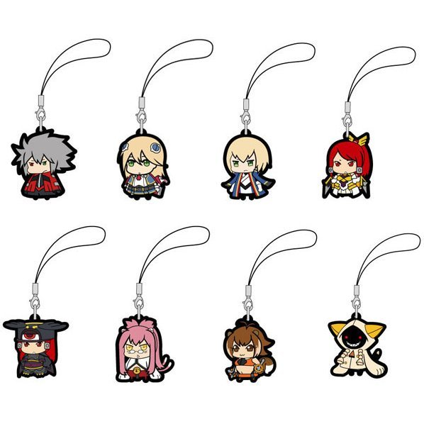 BlazBlue Trading Rubber Strap (Set of 8 pieces)