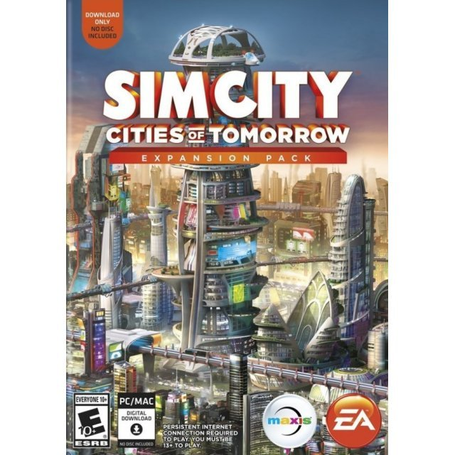 SimCity: Cities of Tomorrow Expansion Pack (Code in a Box) (English)