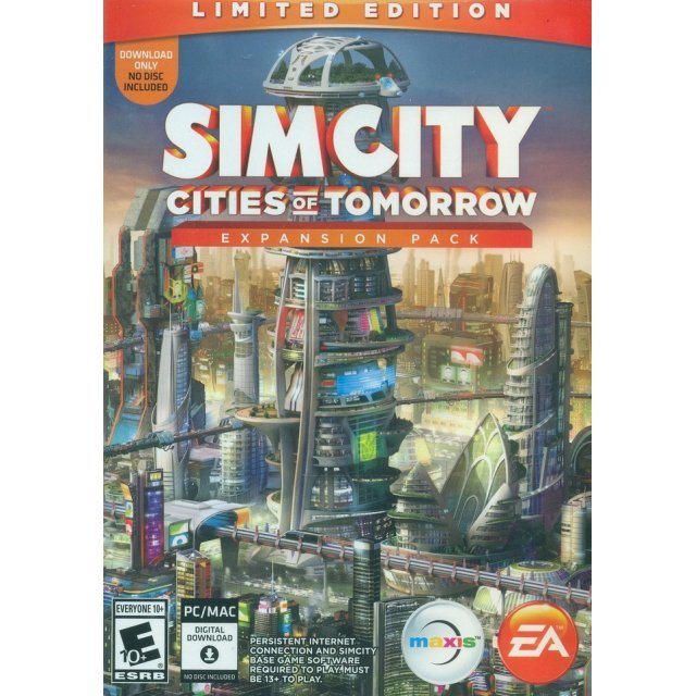 SimCity: Cities of Tomorrow Expansion Pack (Limited Edition) (Code in a Box)