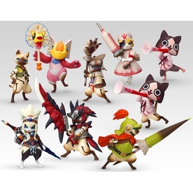 Capcom Figure Builder Standard Model Monster Hunter Pre-Painted PVC Trading Figure: Otomo Airou Vol.1 (Random Single)