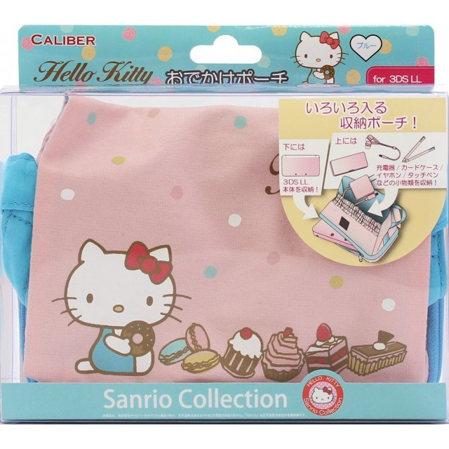Hello Kitty Odekake Pouch for 3DS LL (Blue)