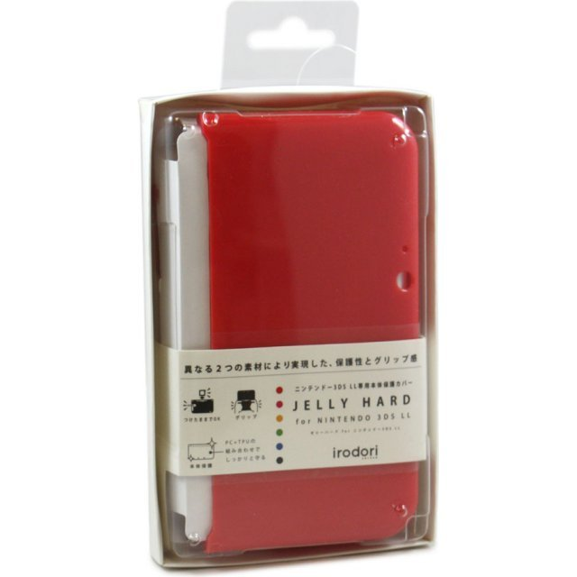 Jelly Hard Cover for 3DS LL (Red)
