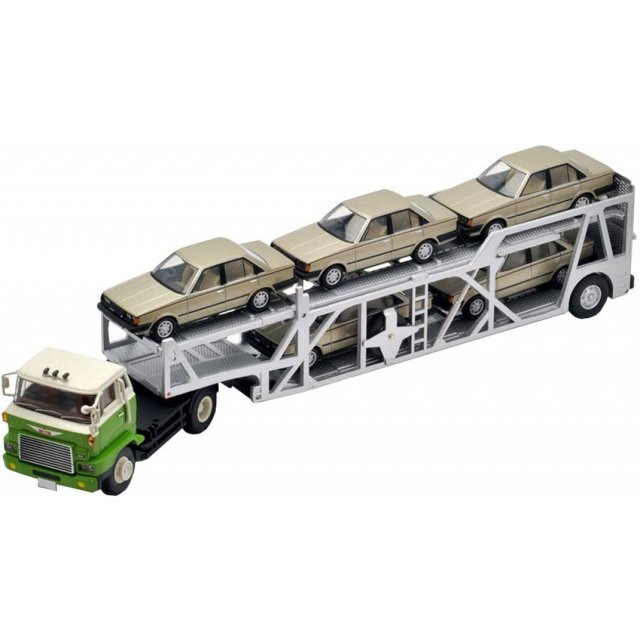 Tomica Limited Vintage 1/64 Scale: TLV-N89a Hino HE366 Type Car Transporter Green