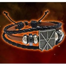 Attack on Titan PU Leather Bracelet: Corps Training Brown