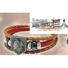 Attack on Titan PU Leather Bracelet: Wall Maria Red