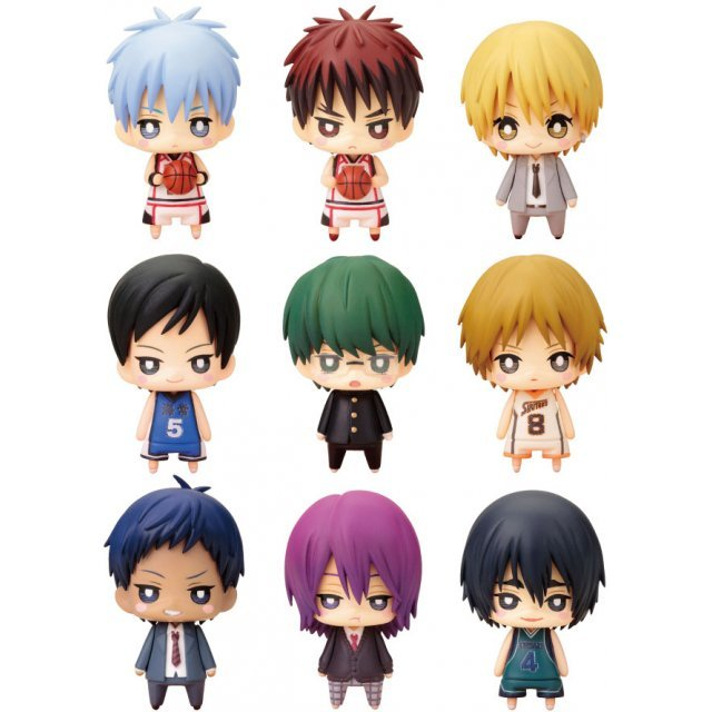 One Coin Mini Figure Collection Non Scale Pre-Painted PVC Figure: Kuroko's Basketball Third Quarter (Set of 9 pieces)