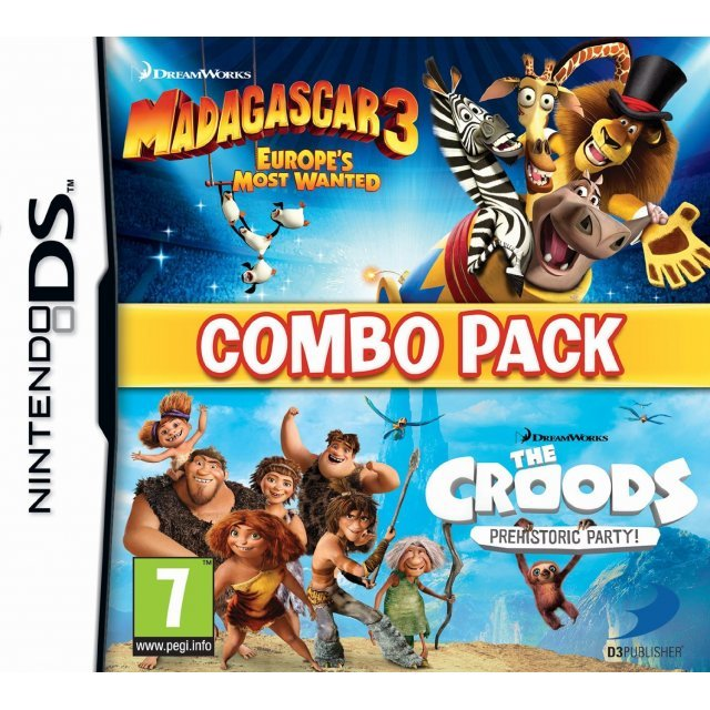 Madagascar 3 & The Croods: Prehistoric Party: Combo Pack