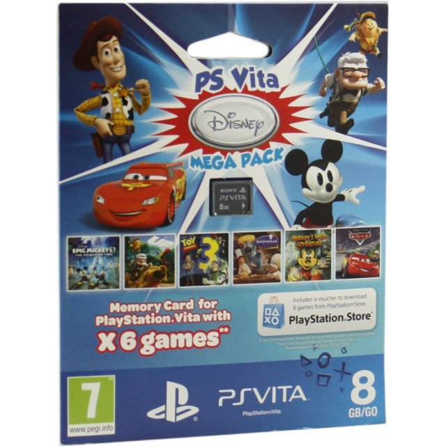 PS Vita Mega Pack Disney (Includes 6 Games and 8GB Memory Card)